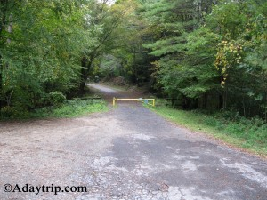 The Gate 40 Entrance and Parking for Quabbin Reservoir Hiking in Central MA