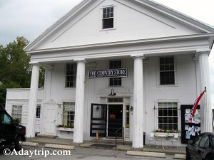 The Petersham Country Store in Petersham MA located downtain in a beautiful city square.