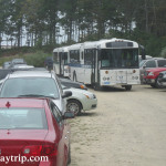 The shuttle from Cataumet lot to the main lot in Falmouth