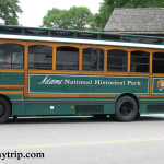The trolley tour bus to John Adams house in Quincy, MA