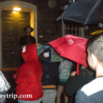 Soaked ghost tour group in Providence