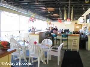 The bar seating area, Purple Urchin