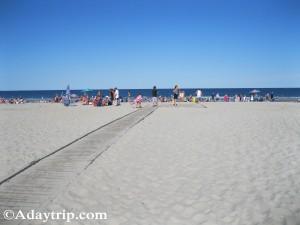Hampton Beach near the hotels