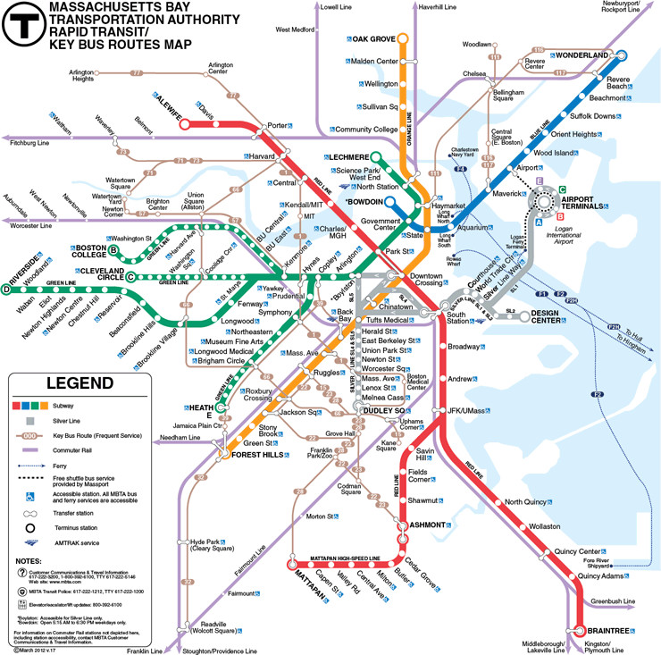 Subway Map For Boston