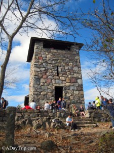 Observation tower at the top of the Skyline Trail