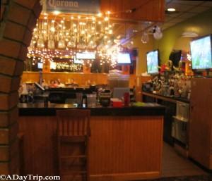 Bar area decor at Fiesta Mexican Restaurant