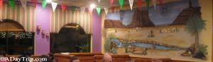 The interior decor of Fiesta Mexican Restaurant in East Bridgewater MA