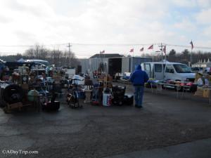 Outdoor vendors at Raynham Flea Market in Raynham, MA